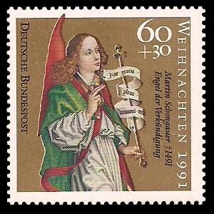 60 + 30 Pf Briefmarke: Weihnachtsmarke 1991, Martin Schongauer