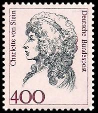 400 Pf Briefmarke: Frauen der deutschen Geschichte