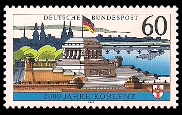 60 Pf Briefmarke: 2000 Jahre Koblenz