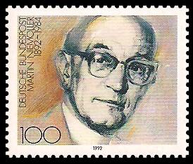 100 Pf Briefmarke: 100. Geburtstag Martin Niemöller