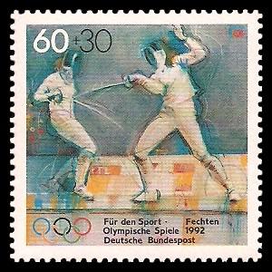 60 + 30 Pf Briefmarke: Für den Sport 1992
