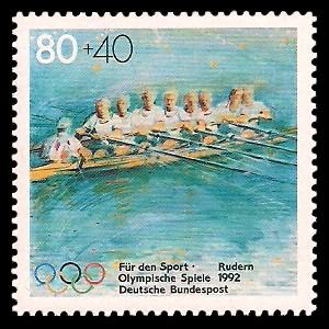 80 + 40 Pf Briefmarke: Für den Sport 1992
