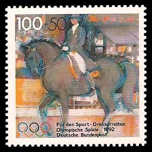 100 + 50 Pf Briefmarke: Für den Sport 1992