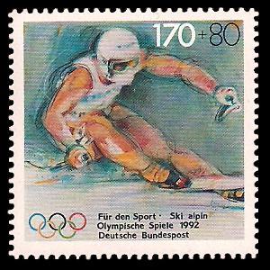170 + 80 Pf Briefmarke: Für den Sport 1992