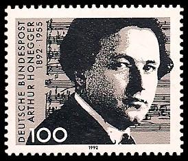 100 Pf Briefmarke: 100. Geburtstag Arthur Honegger