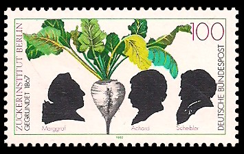 100 Pf Briefmarke: 125 Jahre Zuckerinstitut Berlin