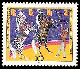 100 Pf Briefmarke: 100. Todestag Ernst Renz
