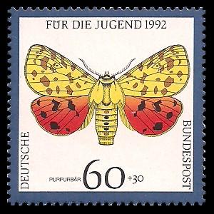 60 + 30 Pf Briefmarke: Für die Jugend 1992, Schmetterlinge