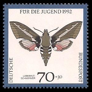 70 + 30 Pf Briefmarke: Für die Jugend 1992, Schmetterlinge