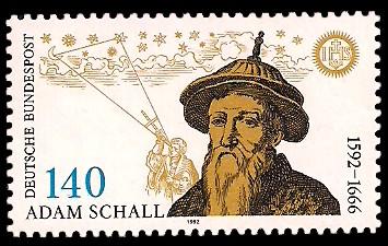 140 Pf Briefmarke: 400. Geburtstag Adam Schall von Bell