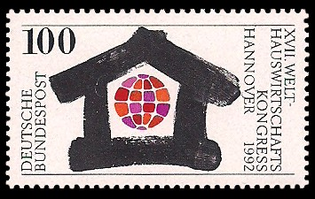 100 Pf Briefmarke: Welt-Hauswirtschafts-Kongress