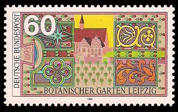 60 Pf Briefmarke: Botanischer Garten Leipzig