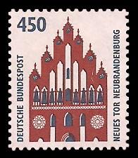 450 Pf Briefmarke: Serie Sehenswürdigkeiten