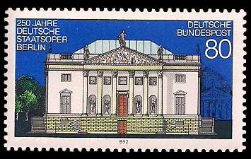 80 Pf Briefmarke: 250 Jahre Deutsche Staatsoper Berlin
