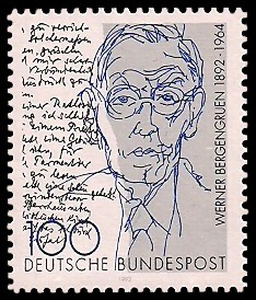 100 Pf Briefmarke: 100. Geburtstag Werner Bergengruen