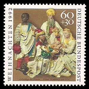 60 + 30 Pf Briefmarke: Weihnachtsmarke 1992