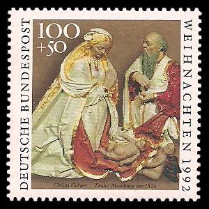 100 + 50 Pf Briefmarke: Weihnachtsmarke 1992