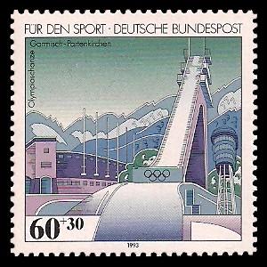 60 + 30 Pf Briefmarke: Für den Sport 1993