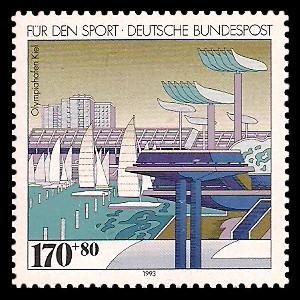 170 + 80 Pf Briefmarke: Für den Sport 1993