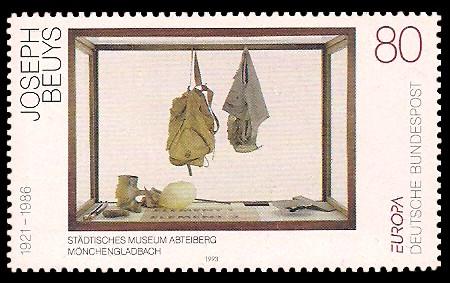 80 Pf Briefmarke: Europamarke 1993, Kunst