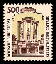 500 Pf Briefmarke: Serie Sehenswürdigkeiten
