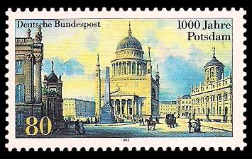 80 Pf Briefmarke: 1000 Jahre Potsdam