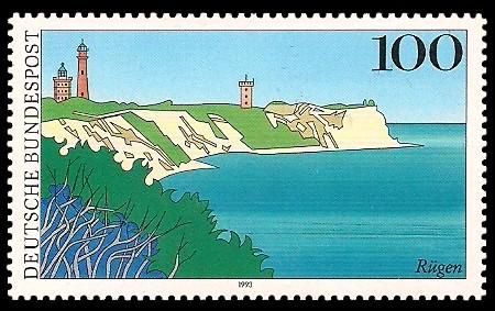 100 Pf Briefmarke: Landschaften in Deutschland