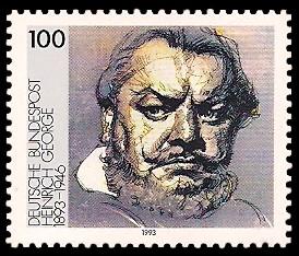100 Pf Briefmarke: 100. Geburtstag Heinrich George