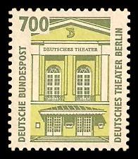 700 Pf Briefmarke: Serie Sehenswürdigkeiten