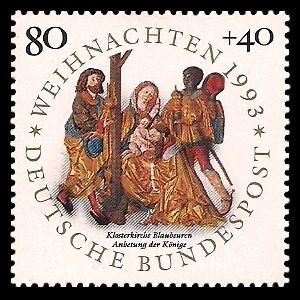 80 + 40 Pf Briefmarke: Weihnachtsmarke 1993