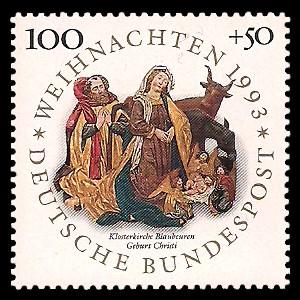 100 + 50 Pf Briefmarke: Weihnachtsmarke 1993