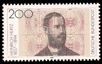 200 Pf Briefmarke: 100. Todestag Heinrich Hertz