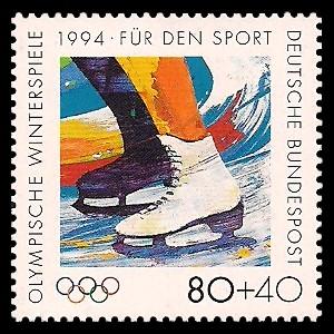80 + 40 Pf Briefmarke: Für den Sport 1994