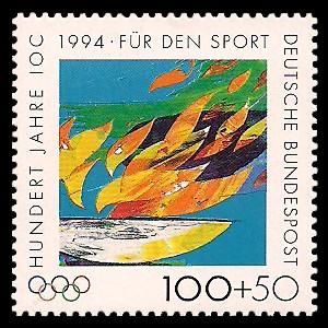 100 + 50 Pf Briefmarke: Für den Sport 1994