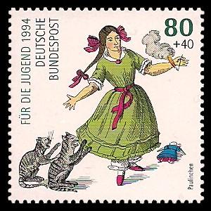 80 + 40 Pf Briefmarke: Für die Jugend 1994, Heinrich Hoffmann