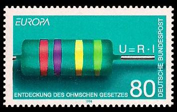 80 Pf Briefmarke: Europamarke 1994, technische Entdeckungen