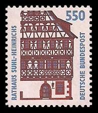 550 Pf Briefmarke: Serie Sehenswürdigkeiten