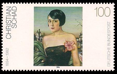 100 Pf Briefmarke: Moderne Gemälde