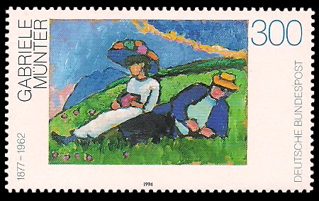 300 Pf Briefmarke: Moderne Gemälde