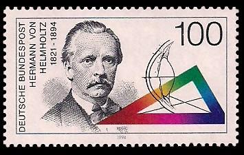 100 Pf Briefmarke: 100. Todestag Hermann von Helmholtz