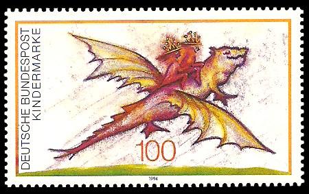 100 Pf Briefmarke: Für uns Kinder