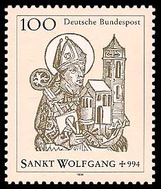 100 Pf Briefmarke: 1000. Todestag heiliger Wolfgang
