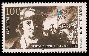 100 Pf Briefmarke: 200. Todestag Friedrich Wilhelm von Steuben