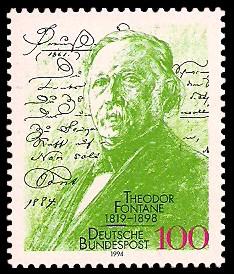 Briefmarken f/ür Sammler 1994 Theodor Fontane kompl.Ausgabe BR.Deutschland 1767 Prophila Collection BRD