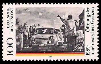 100 Pf Briefmarke: 5. Jahrestag der Öffnung der innerdeutschen Grenzen