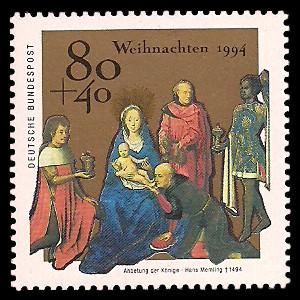 80 + 40 Pf Briefmarke: Weihnachtsmarke 1994