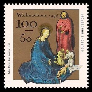 100 + 50 Pf Briefmarke: Weihnachtsmarke 1994