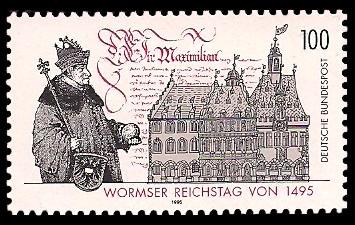 Wormser Reichstag Von 1495 Briefmarke Brd