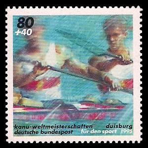 80 + 40 Pf Briefmarke: Für den Sport 1995