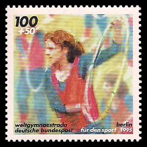 100 + 50 Pf Briefmarke: Für den Sport 1995